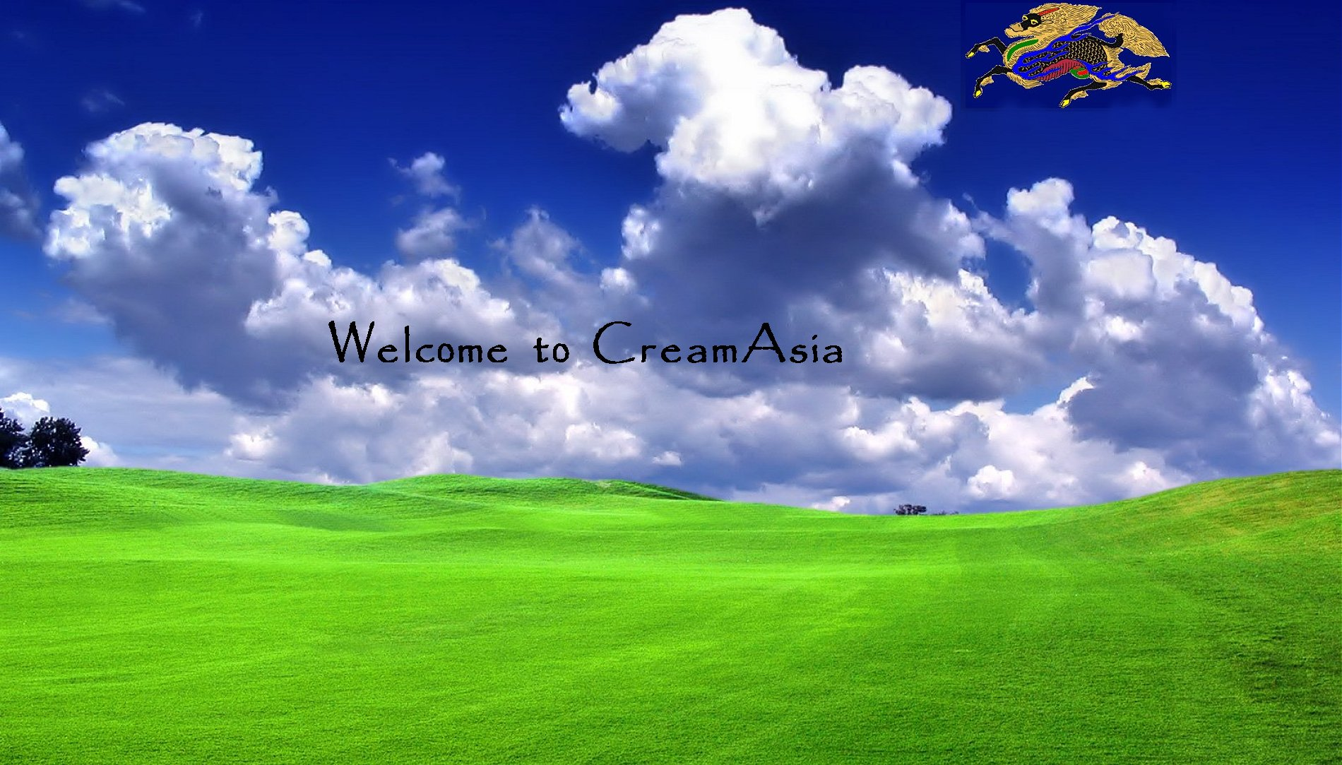 To save as Wallpaper Right Click over CreamAsia image and Select: Set as Background